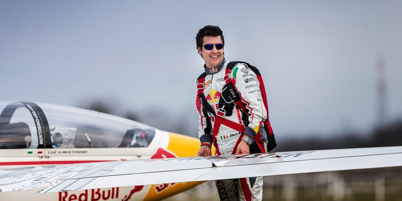 Luca Bertossio, Pilota di Aliante Acrobatico