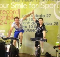Stefano Vascotto Maura Spiesanzotti 24 ore consecutive su bici stazionaria
