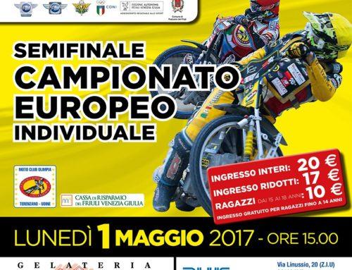 -Moto Club Olimpia- Semifinale Campionato Europeo Speedway individuale 1 Maggio 2017-