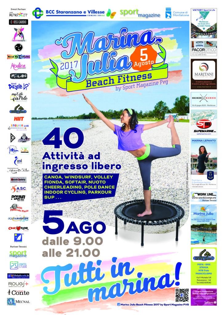 marina julia beach fitness programma manifestazione