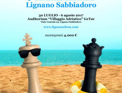 – Torneo Internazionale di Scacchi Chess Festival -Lignano Sabbiadoro