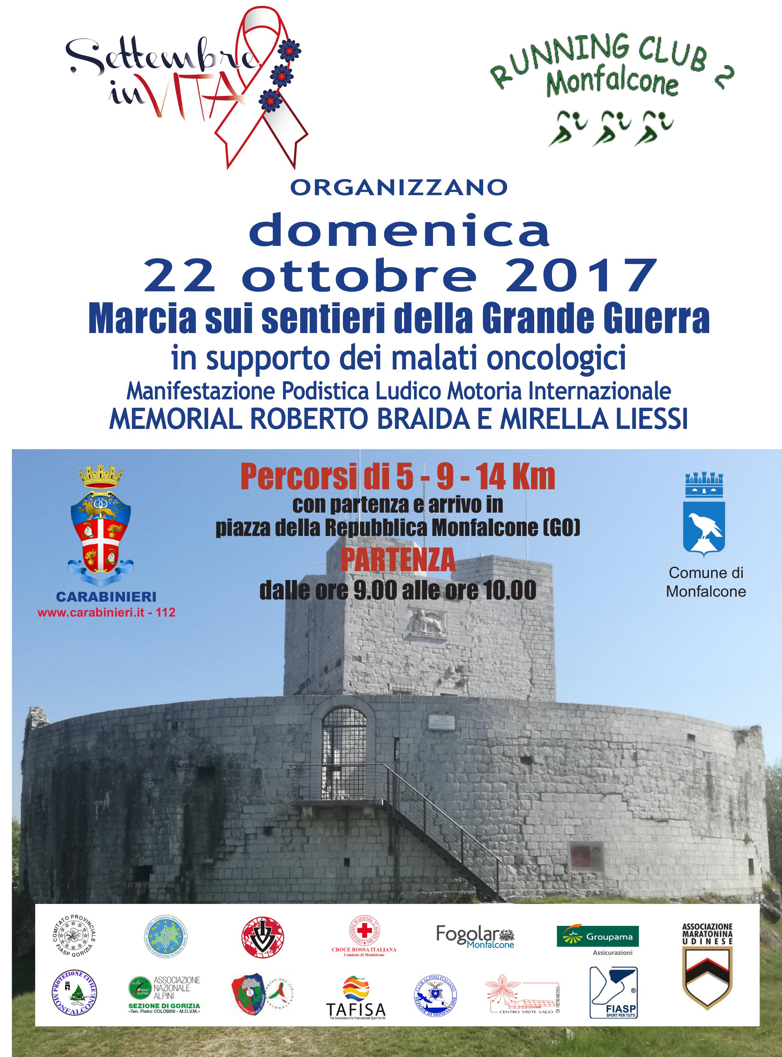 Calendario Fiasp Fvg.Settembre Invita E Running Club Marcia Sui Sentieri Della