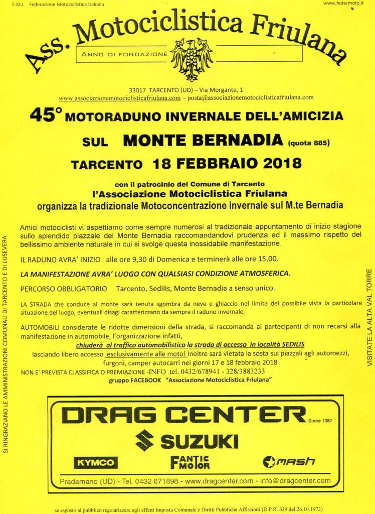 45 Motoraduno Bernadia volantino