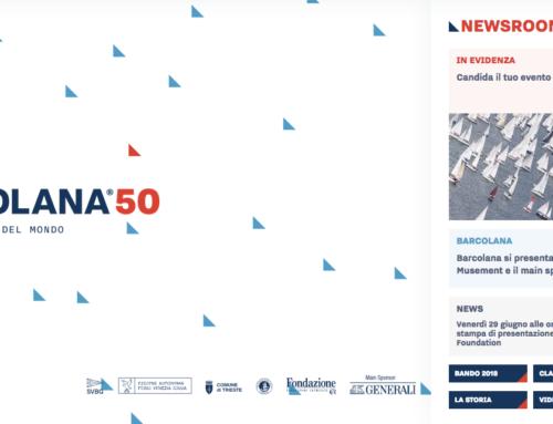 """– Barcolana 2018 – Nuovo sito WEB e """"B50 Newsroom"""""""