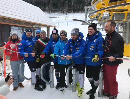 -Tarvisio- La nazionale azzurri Slalom inaugura la nuova seggiovia