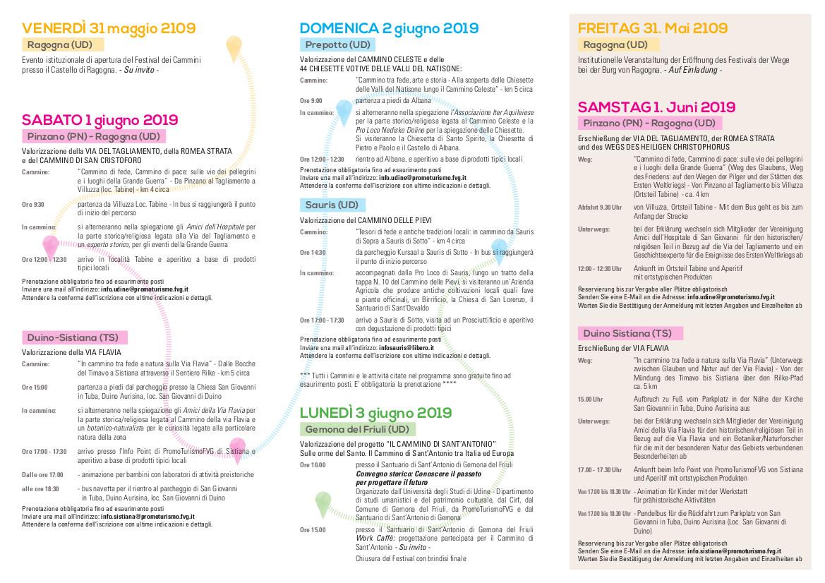 festival dei cammini programma
